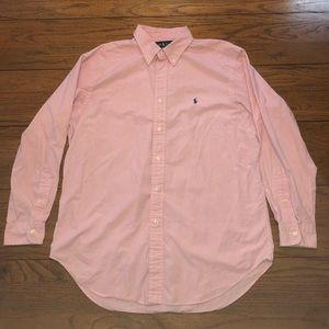 Men's Polo by Ralph Lauren Dress Shirt 16 1/2 Pink